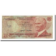 Billet, Turquie, 20 Lira, 1974, KM:187a, TB - Turchia