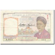 Billet, FRENCH INDO-CHINA, 1 Piastre, 1936, KM:54b, TTB - Indochine