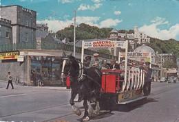 Postcard Douglas Isle Of Man Horse Tram Passing Entrance To The Casino My Ref  B22950 - Isle Of Man