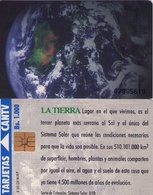 TARJETA TELEFONICA DE VENEZUELA. SISTEMA SOLAR 3/10, LA TIERRA, 09/95, CAN2-0090C. (488) - Espacio