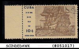 CUBA - 1962 SHIP - 1V - USED - Ships