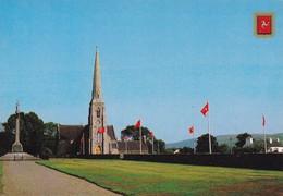 Postcard St John's Church Isle Of Man [ Legs Of Man Flags ] My Ref  B22951 - Isle Of Man