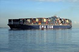 7X5 PHOTO OF CMA CGM OTELLO CALSHOT 16 11 07 - Boats