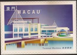 POSTAL MAXIMO - MAXIMUM CARD - Macau Macao Portugal 1999 - Obras Edifícios Modernos - Modern Architecture - Terminal Mar - Interi Postali
