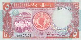 Sudan - 5 Pounds 1991 - UNC - Soudan