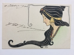 Art Nouveau - Carl Jozsa - Testa Di Donna - Illustratori & Fotografie