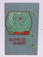 Art Nouveau - Carl Jozsa - Buon Anno - Testa Di Donna Che Fuma - Illustratori & Fotografie