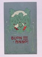 Art Nouveau - Carl Jozsa - Buon Anno - Tre Volti Di Donna E Cornice Di Quadrifogli - Illustratori & Fotografie