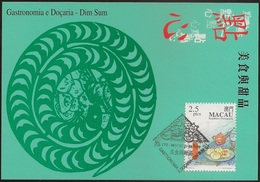 POSTAL MAXIMO - MAXIMUM CARD - Macau Macao China Portugal 1999 - Gastronomia E Doçaria - Dim Sum - Gastronomy And Sweets - Macao