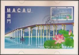 POSTAL MAXIMO - MAXIMUM CARD - Macau Macao China Portugal 1999 - Obras Edifícios Modernos - Ponte Flor De Lotus - Label - Macao
