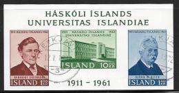 Iceland, Scott # 344a Used University Of Iceland S/S, 1961 - 1944-... Republik