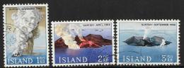 Iceland, Scott # 372-4 Used Surtsey Island, 1965 - 1944-... Republik