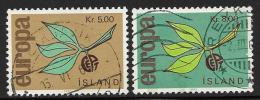 Iceland, Scott # 375-6 Used Europa, 1965 - 1944-... Republik