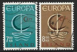 Iceland, Scott # 384-5 Used Europa, 1966 - 1944-... Republik