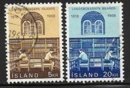 Iceland, Scott # 400-01 Used National Library, 1968 - 1944-... Republik