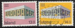Iceland, Scott # 406-7 Used Europa, 1969 - 1944-... Republik