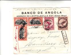 Léopoldville Congo Belga To Amburgo. Cover 1933 - Congo Belga