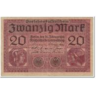 Billet, Allemagne, 20 Mark, 1918, 1918-02-20, KM:57, TTB - [ 2] 1871-1918 : Empire Allemand
