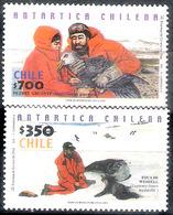 7660  Birds - Polar Fauna - Chile Yv 1596-97 MNH - 2,75 (8) - Birds