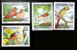 7660  Ducks - Canards - Parrots - Perroquets - Birds - Colombie 1013-14 +A  MNH - 3,85 (10) - Oiseaux