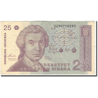 Billet, Croatie, 25 Dinara, 1991-10-08, KM:19a, TTB - Croacia