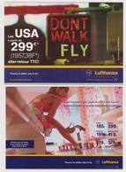 [558] LUFTHANSA 2 Promotional Postcards In France & Spain. .2 Werbepostkarten Frankreich Und Spanien. 2001 & 2003.. - Otros
