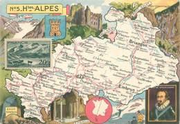 """/ CPSM FRANCE 05 """"Hautes Alpes""""  /  CARTE GEOGRAPHIQUE - France"""