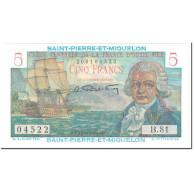 Saint-Pierre-et-Miquelon, 5 Francs, 1950-60, Undated (1950-1960), NEUF, KM:22 - France