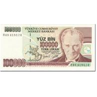 Billet, Turquie, 100,000 Lira, 1997, Undated (1997), KM:206, NEUF - Turquie