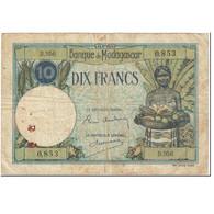 Billet, Madagascar, 10 Francs, 1937, Undated (1937), KM:36, TB - Madagascar