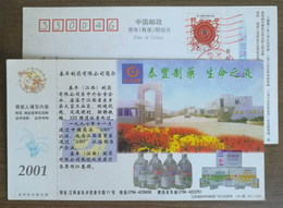 Eye Drops Medicine,China 2001 National GMP Certification Taifeng Pharmaceutical Company Advertising Pre-stamped Card - Farmacia