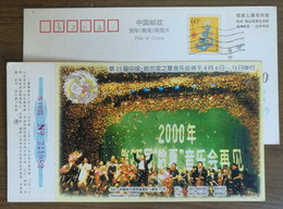 Symphony Orchestra,Music,China 2000 Harbin Summer Concert Advertising Pre-stamped Card - Music