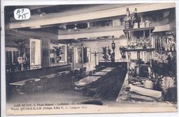 LANGRES- INTERIEUR DU CAFE DE FOY TENU PAR M QUIBAILLE - Langres