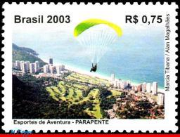 Ref. BR-2907 BRAZIL 2003 SPORTS, PARACHUTTING, PARAGLIDING, , MI# 3339, MNH 1V Sc# 2907 - Parachutting