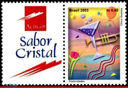 Ref. BR-2912 BRAZIL 2003 MUSIC, FESTIVALS, MUSICAL, INSTRUMENT, PERSONALIZED MNH 1V Sc# 2912 - Brazil
