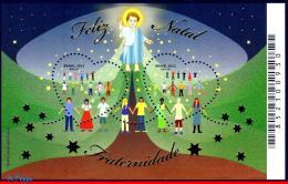 Ref. BR-3260 BRAZIL 2013 CHRISTMAS, FRATERNITY, RELIGION,, SOUVENIR SHEET MNH 2V Sc# 3260 - Brazil