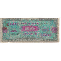 France, 50 Francs, 1944 Flag/France, 1944, B, Fayette:VF19.1, KM:117a - 1944 Drapeau/France