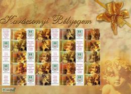 Ref. HU-V2004-2 HUNGARY 2004 CHRISTMAS, RELIGION 2007, ANGELS - SHEET MINT MH 20V Sc# 3913 - Hongrie