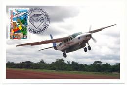 """FRANCE - 3 Cartes Maximum """"Aviation Sans Frontières"""" 13 AIX En Provence 2006 - Cartes-Maximum"""
