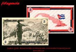 NOTAFILIA. CUBA 1958. BONO DEL MOVIMIENTO 26 DE JULIO. 2.00 PESOS. SIN SELLO - Cuba