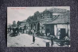 COLOMBO - Hindoo Temple - Sri Lanka (Ceylon)