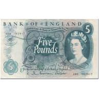 Billet, Grande-Bretagne, 5 Pounds, 1963, Undated (1963), KM:375a, SUP+ - 1952-… : Elizabeth II