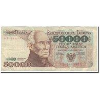 Billet, Pologne, 50,000 Zlotych, 1989-02-01, KM:153a, B+ - Poland