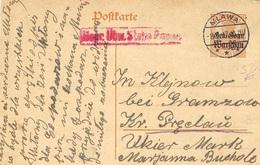 1917- Poskarte  7 1/2  Gen. Gouv.  / Warschau  Can. MLAWA - ....-1919 Provisional Government
