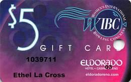 Eldorado Casino - Reno NV - WIBC Bowling Tournament $5 Gift Card - Casino Cards