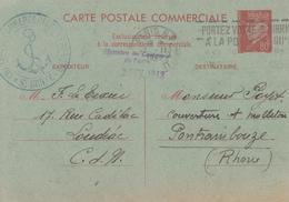 Carte  Entier  Postal   PETAIN   Carte  Postale  Commerciale  Interzone   1942 - Entiers Postaux