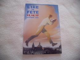 CARTE PUBLICITE ..BELLE ILLUSTRATION LIRE LIRE EN FETE 1999 - Evénements