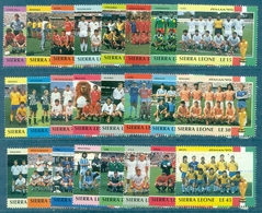 SIERRA LEONE Foot Italie 90 Série N°1147 / 1170 Nxx Complète TB. Cote 20 €. - 1990 – Italië