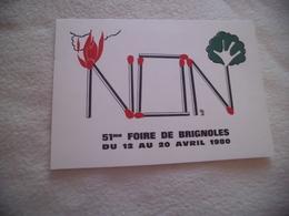 BELLE ILLUSTRATION....51E FOIRE DE BRIGNOLE 1980 ..SIGNE ISABELLE GIUGNI - Foires