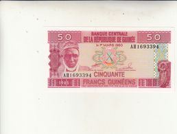 Banconota 50  Francs  Uncirculed 1985 - Guinea